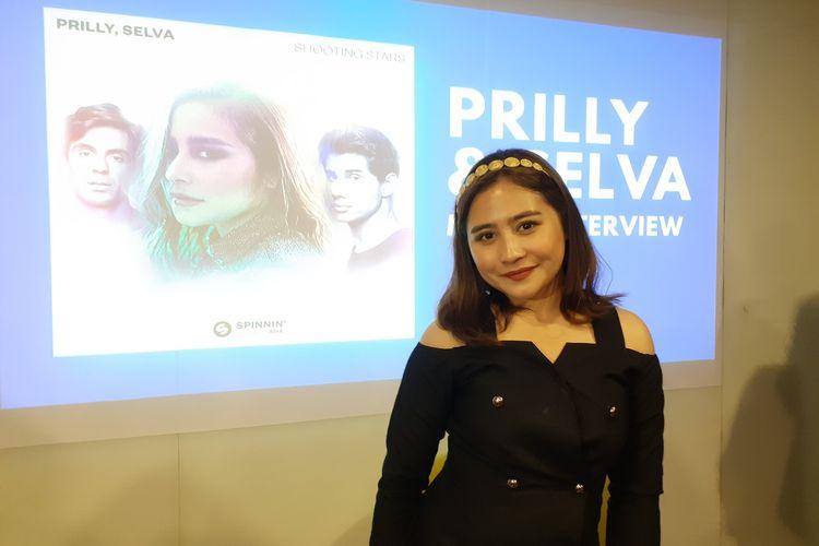 Prilly Latuconsina saat ditemui di kawasan Gambir, Jakarta Pusat, Selasa (11/2/2020).