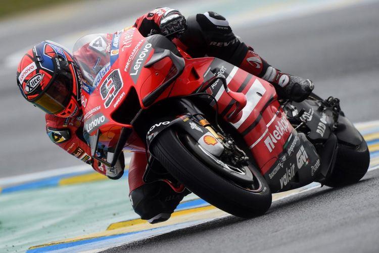 Danilo Petrucci saat berlaga di MotoGP Le Mans