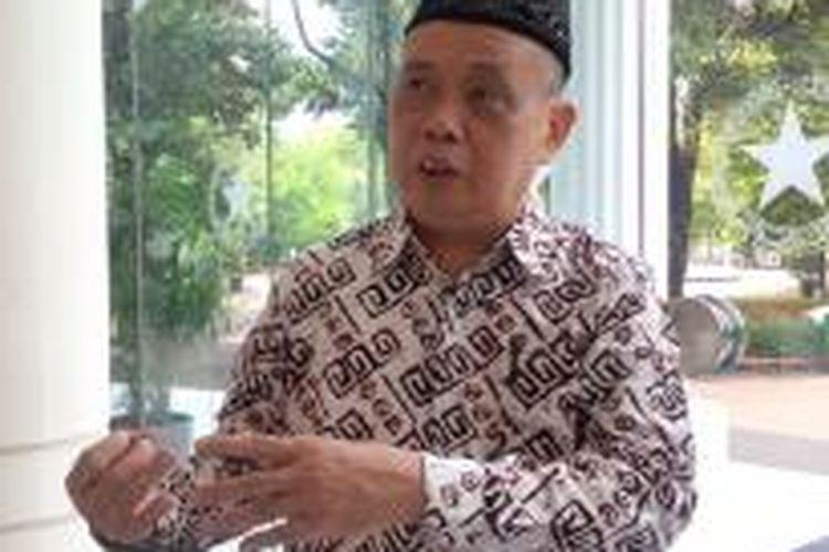 Ketua Panitia Muktamar Nahdlatul Ulama Imam Aziz di Kantor Wakil Presiden Jakarta, Senin (22/6/2015).