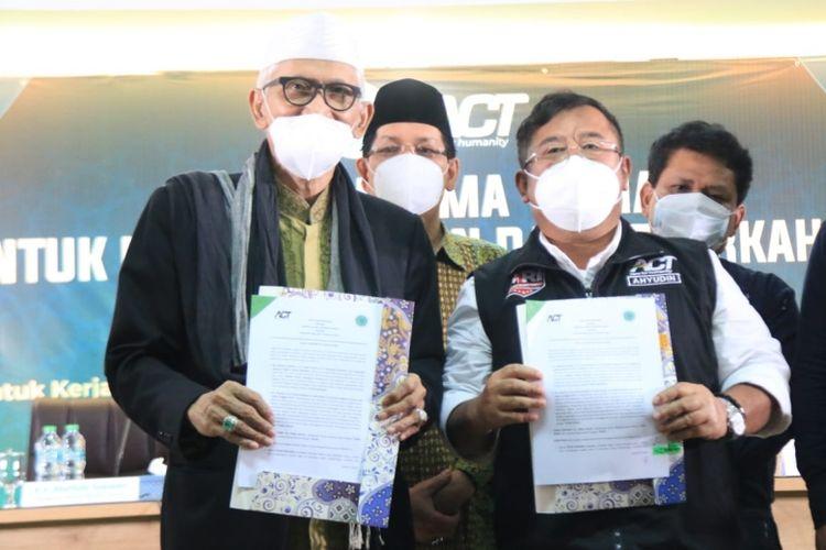 MoU yang sudah ditandatangani oleh ACT dan MUI, Selasa (22/6/2021).