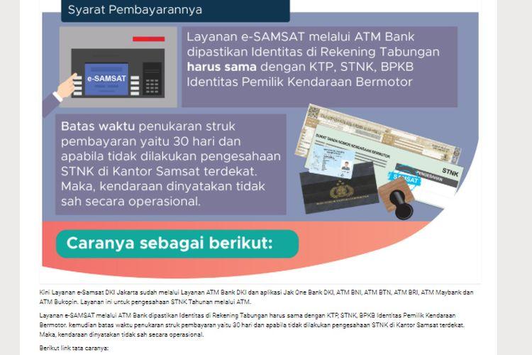 Syarat bayar pajak lewa Samsat Online