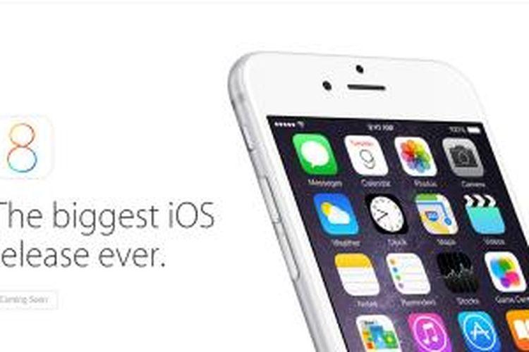 iOS 8, sistem operasi mobile Apple terbaru disertakan di iPhone 6 dan iPhone 6 Plus. OS ini juga tersedia untuk perangkat lain yang didukungnya, dan bisa diunduh mulai 17 September 2014.