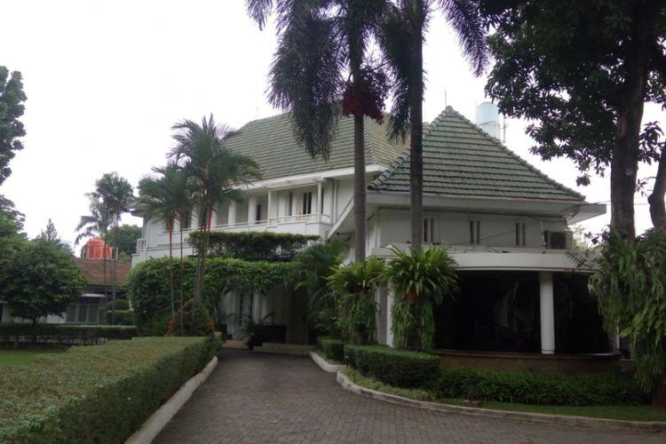 Suasana di Rumah Dinas Gubernur DKI Jakarta yang berlokasi di Jalan Taman Suropati, Menteng, Jakarta Pusat, Rabu (18/10/2017).