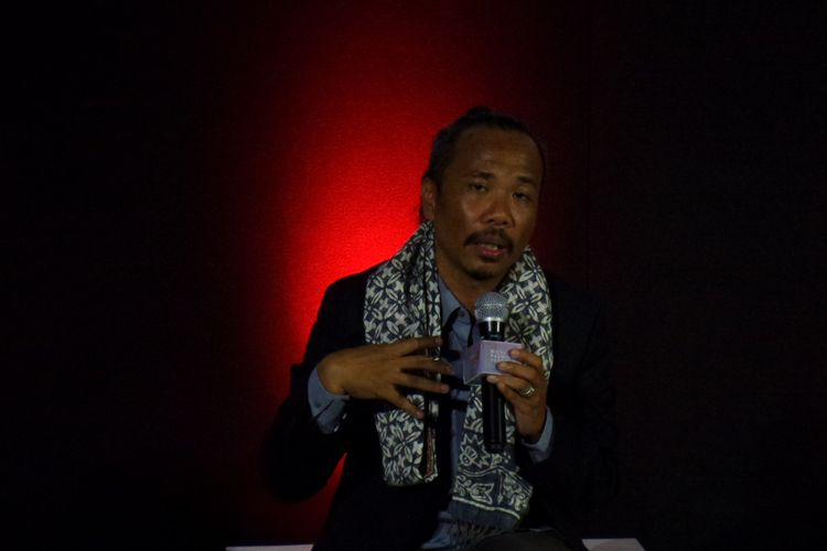 National Chairman Indonesian Fashion Chamber (IFC) Ali Charisma dalam konverensi pers di CGV Pacific Place, Jakarta, Senin (26/11/2018).