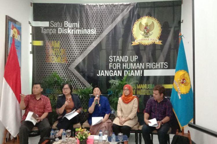 Komnas HAM menggelar diskusi terkait RUU Pertanahan di kantor Komnas HAM, Jakarta Pusat, Jumat (6/9/2019).