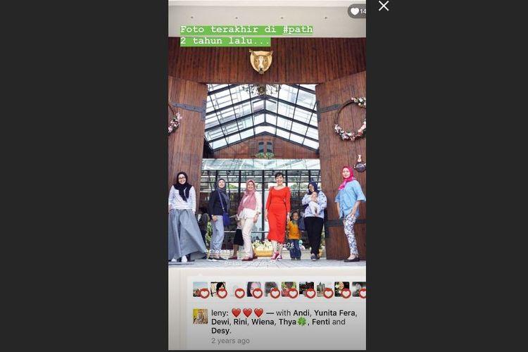 Salah satu netizen membagikan aktivitasntya di Path dua tahun lalu, di insta story Instagram.