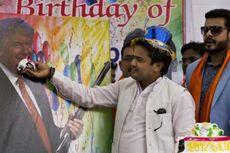 Kelompok Hindu Rayakan Ulang Tahun Donald Trump di New Delhi