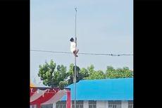 Begini Cerita Seorang Santri Nekat Naik Tiang Bendera Saat Upacara Bendera di Gorontalo...