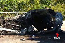 Mobil Curian yang Dikemudikan Terguling dan Terbakar, Bocah 13 Tahun Tewas