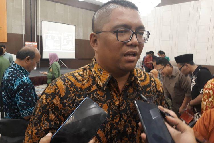 Anggota Bawaslu Fritz Edward Siregar usai sebuah diskusi di kawasan Kramat, Jakarta Pusat, Kamis (7/11/2019).