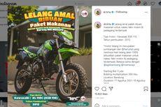 Dr Tirta Lelang Kawasaki KSR 110 untuk Amal, Terjual Rp 120 Juta