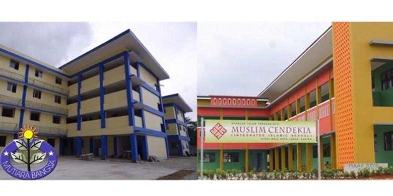 Suasana aktual pembangunan sekolah di Citra Maja Raya.