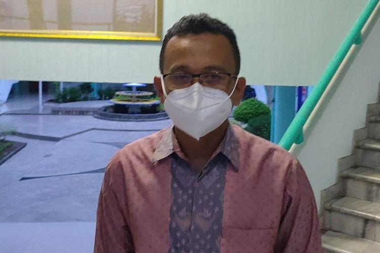Purek 3 Unsri Iwan Stia Budi di Gedung Rektorat Universitas Sriwijaya Indralaya.