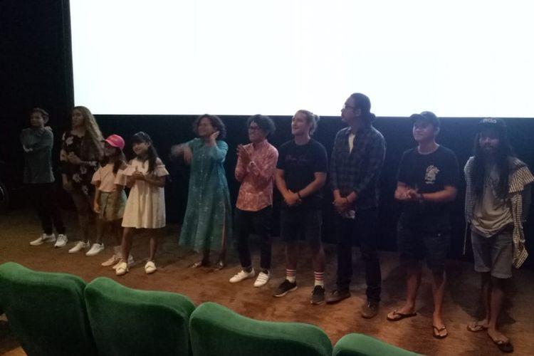 Suasana acara jumpa para bintang film Kulari ke Pantai di Kuta, Bali, Kamis (5/7/2018).