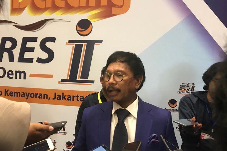 Sekretaris Jenderal (Sekjen) Nasdem Johnny G Plate di JIExpo, Kemayoran, Jakarta Pusat, Jumat (8/11/2019).