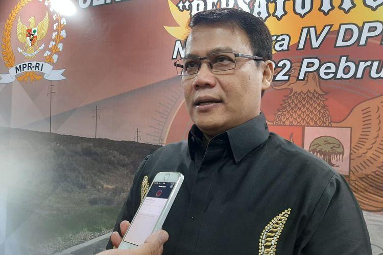 Ketua DPP PDI-P Ahmad Basarah di DPR, Senayan, Jakarta, Sabtu (22/2/2020).