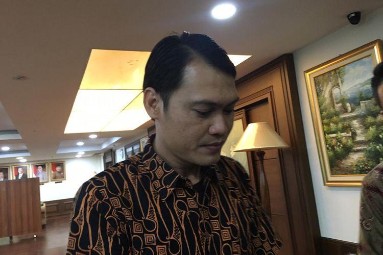 Koordinator Aliansi Nasional Driver Online (Aliando) April Baja saat diwawancarai media di Jakarta, Selasa (3/3/2020).