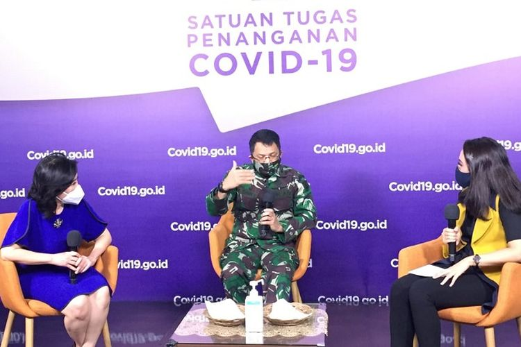 Talkshow Update Wisma Atlet: Harapan Sembuh bagi Pasien Covid-19, di Media Center Satuan Tugas Penanganan Covid-19 Graha BNPB Jakarta, Kamis (8/10/2020).
