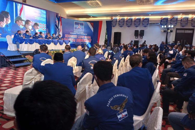 KLB Partai Demokrat di Sibolangit, Deliserdang, Sumatera Utara, Jumat (5/3/2021).