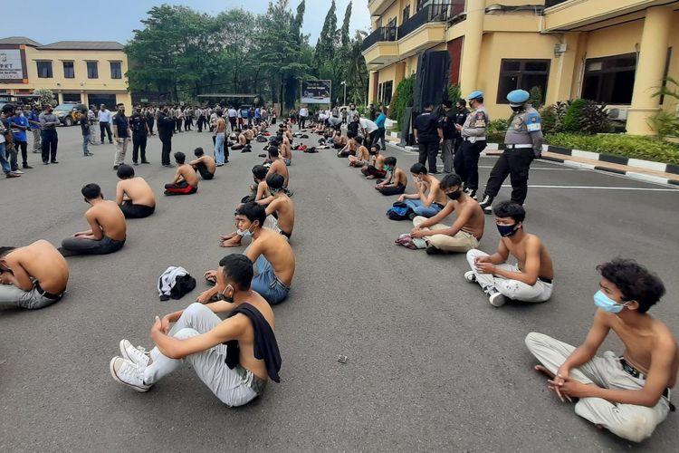 Polda Banten mengamankan 270 pelajar yang akan ikut demo Omnibus Law
