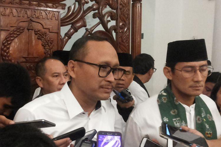 Direktur Utama PT Jakarta Propertindo Satya Heragandhi di Balai Kota, Kamis (26/10/2017).