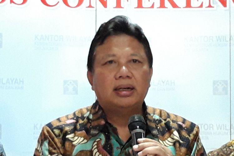 Kepala Kantor Wilayah Kemenkumham DKI Jakarta Bambang Sumardiono di Kantor Wilayah Kemenkumham DKI Jakarta, Cawang, Jakarta Timur, Sabtu (28/12/2018)
