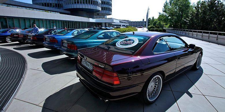 BMW 8-Series berkumpul di markas BMW.