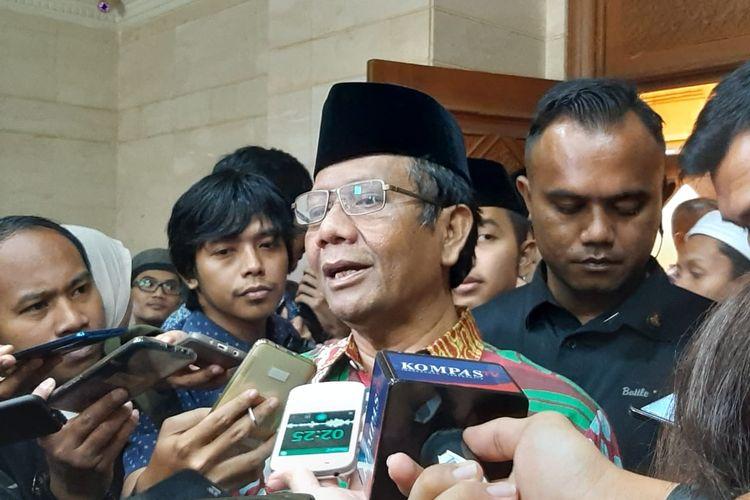 Menko Polhukam Mahfud MD di kantor PBNU, Jakarta, Sabtu (25/1/2020).
