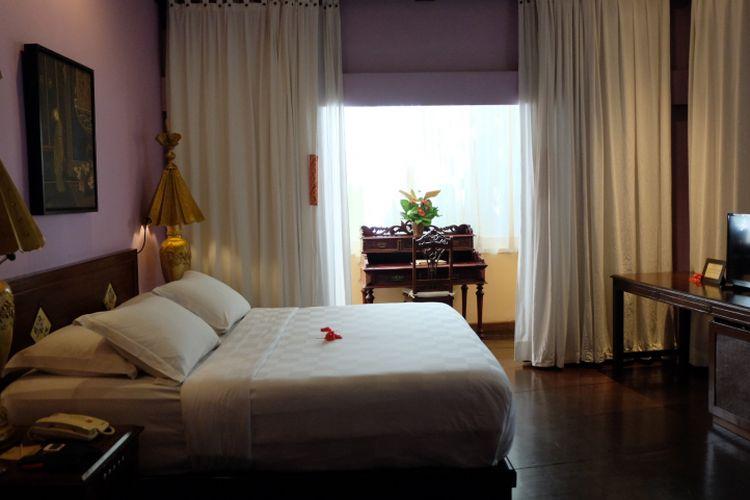 Salah satu kamar di Hotel Tugu Malang.