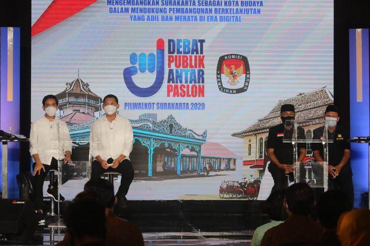 Debat perdana di pilkada solo 2020 (Sumber: Dokumentasi KPU SOLO)
