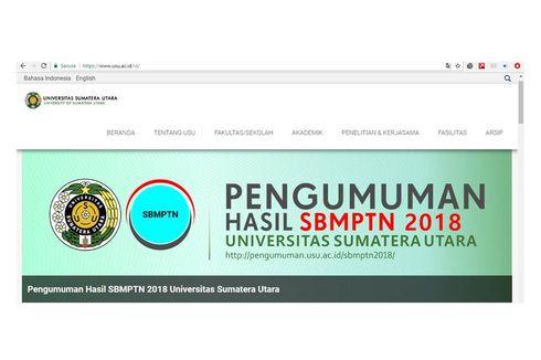 Jadwal dan Cara Registrasi Mahasiswa USU dari Jalur SBMPTN