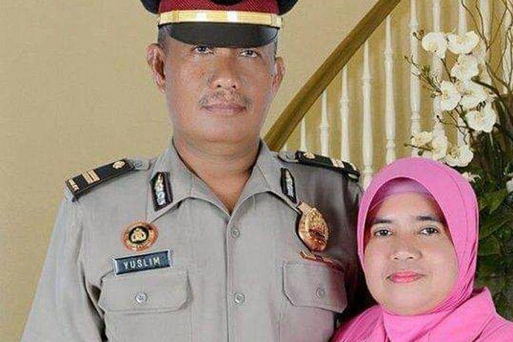 Almarhum Iptu Yuslim, anggota Polres Pangkal Pinang yang meninggal dunia saat pengamanan Pemilu 2019.