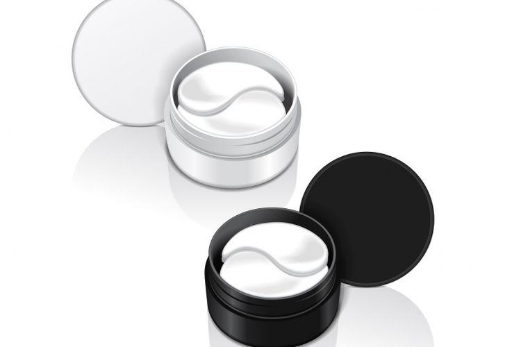 Ilustrasi pilihan produk perawatan kulit.