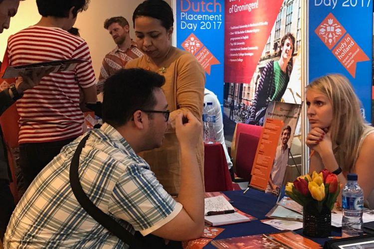 Acara pameran pendidikan kuliah di Belanda Dutch Placement Day 2017 yang berlangsung di Erasmus Huis, Jakarta, Jumat 3 November 2017.