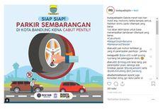 Awas, Pentil Kendaraan Akan Dicabut jika Parkir Sembarangan di Bandung