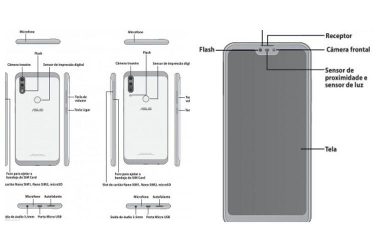 Ilustrasi kertas manual Zenfone Max Shot dan Max Plus M2
