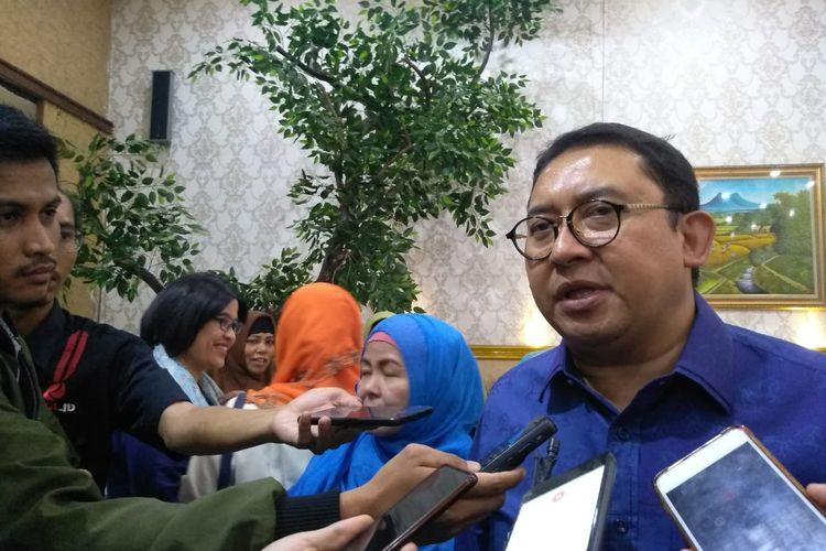 Waketum Gerindra Fadli Zon di di Restoran Raden Bahari, Jakarta, Jumat (27/12/2019).