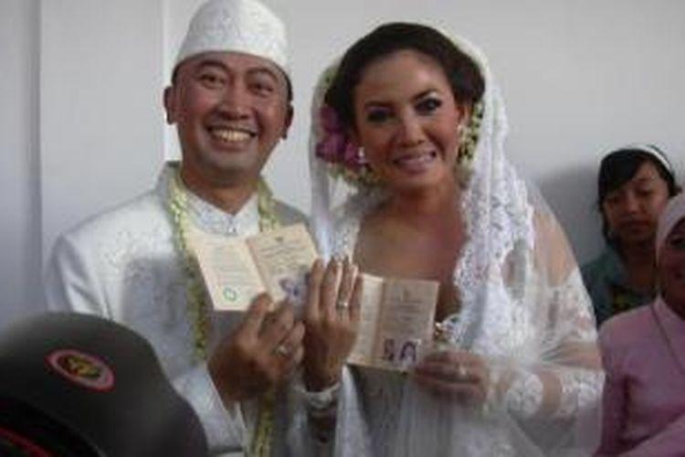 Bos Artha Graha, Wisnu Tjandra saat menikahi artis Peggy Melati Sukma