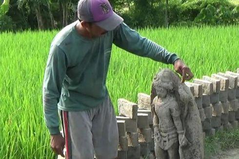 Sedang Bekerja di Sawah, Petani Boyolali Temukan Arca Kuno