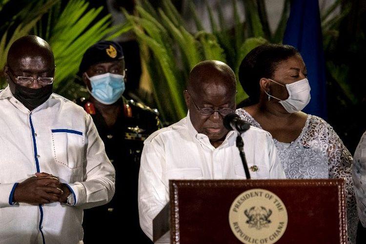 Ghana mencatat setidaknya 200 kasus virus corona setiap hari awal bulan Januari 2021.
