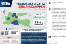 11 Daerah di Jatim Terapkan PPKM, Khofifah: Mohon Tahan Diri Tidak Cangkrukan di Warkop