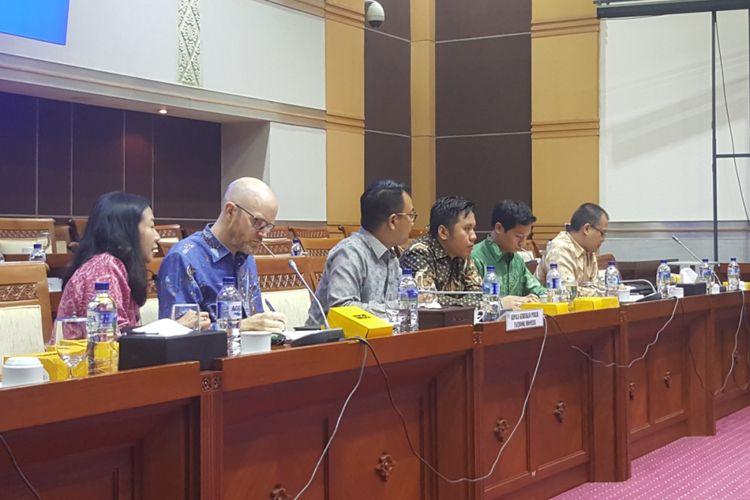 Perwakilan Facebook Indonesia dan Asia Pasifik menghadiri Rapat Dengar Pendapat Umum (RDPU) yang digelar Komisi 1 DPR RI, Selasa (17/4/2018) di gedung DPR/MPR.