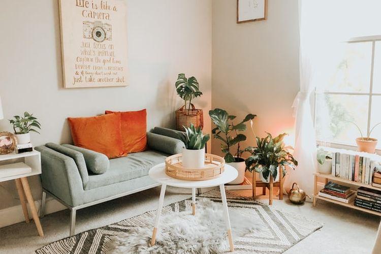 Ilustrasi ruang keluarga minimalis