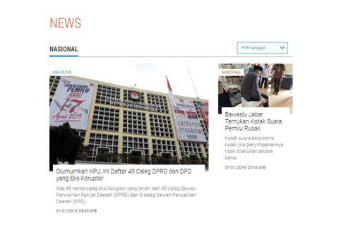 [POPULER NASIONAL] 49 Nama Caleg Eks Koruptor   Timses Jokowi Minta Buni Yani Tak Cengeng
