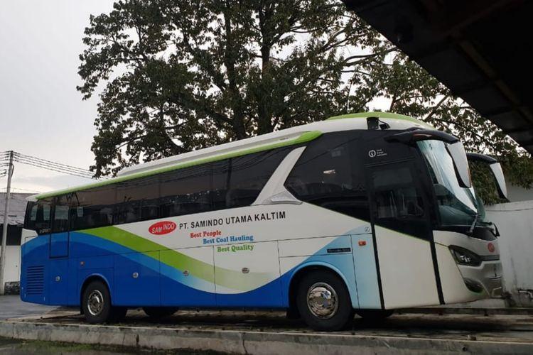 Bus karyawan PT Samindo Utama Kaltim