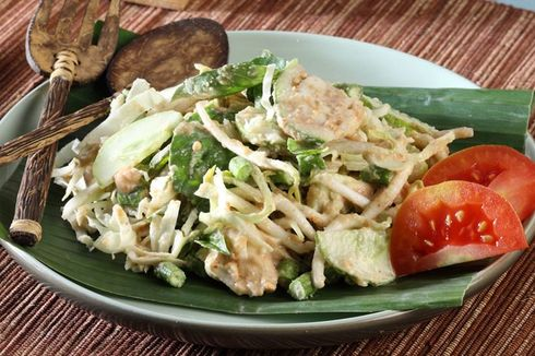 Resep Karedok Khas Sunda, Sayuran Siram Bumbu Kacang buat Sarapan
