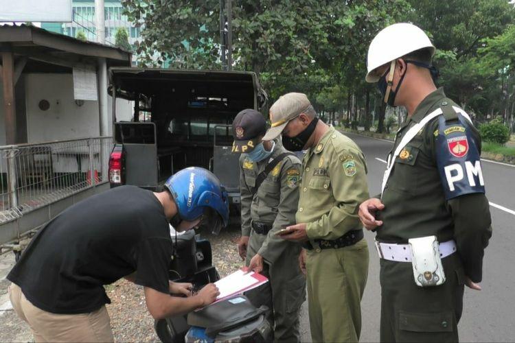 Tim gabungan menggelar razia penggunaan masker di Kabupaten Banyumas, Jawa Tengah, beberapa waktu lalu.