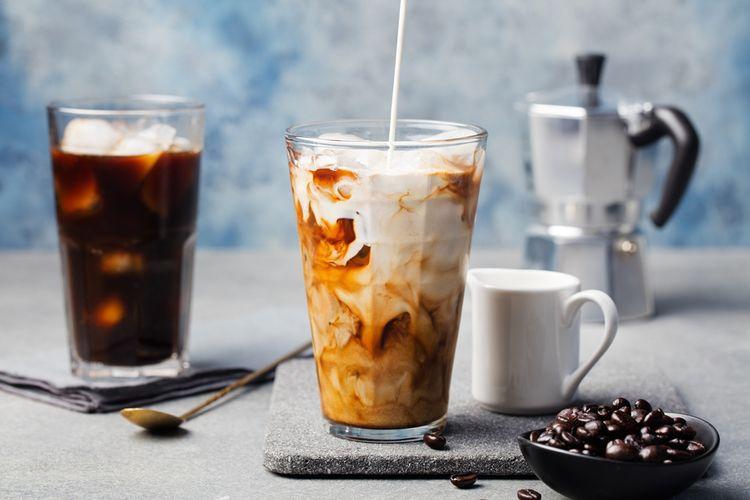 Ilustrasi kopi susu kekinian.