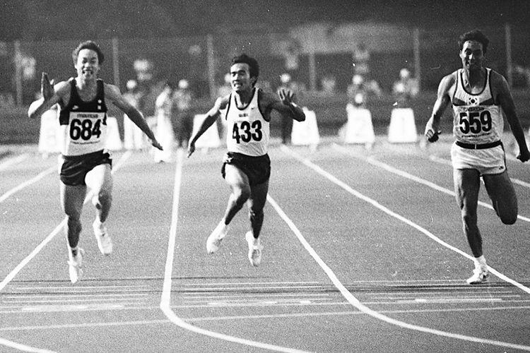Purnomo (433) meraih medali perak nomor 100 m dan memecahkan rekor Asia 0,01 detik lebih cepat. Medali emas disabet sprinter Cina Zheng Chen (684) yang juga memecahkan rekor Asia dengan waktu 10,28 detik lebih cepat 0,06 detik. Medali perunggu diraih Korea Jang Jae Kun (559).