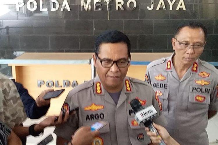 Kabid Humas Polda Metro Jaya Kombes Argo Yuwono di Polda Metro Jaya, Jakarta Selatan, Senin (8/7/2019).